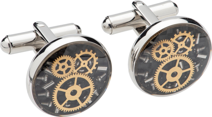 Mens Unique & Co Steel Cufflinks