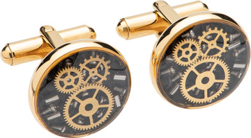 Mens Unique & Co Gold Plated Cufflinks