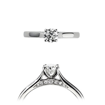 18ct White Gold 0.31ct Solitaire Diamond Ring