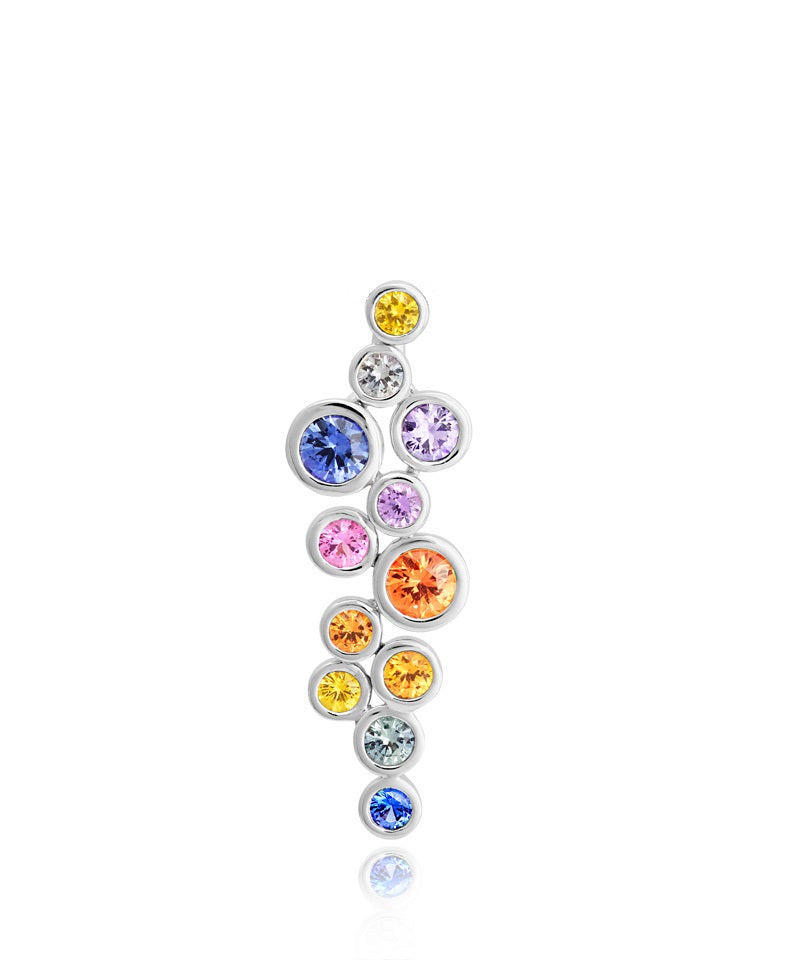 18ct White Gold Multi Sapphire Necklace