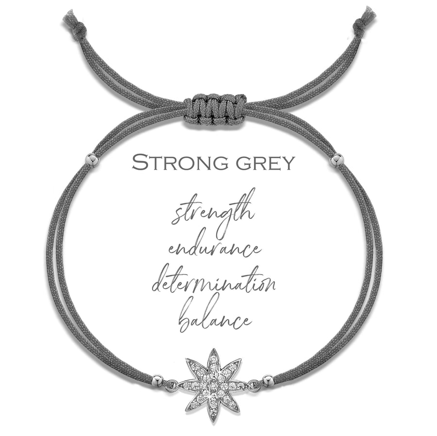 Vixi Superstar Strong Grey Friendship Bracelet