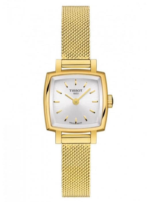 Ladies Gold PVD Tissot Lovely Square Watch on Bracelet