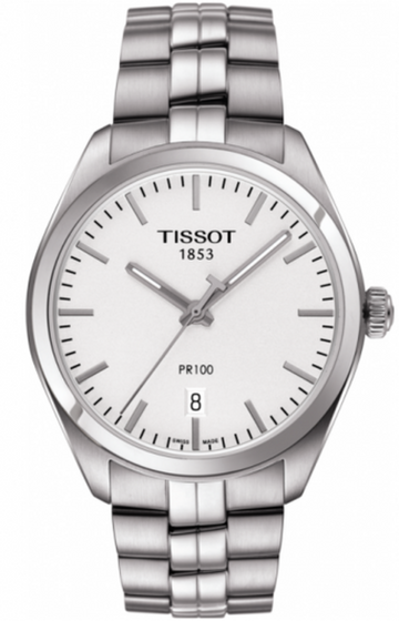 Mens Steel Tissot PR 100 Watch on Bracelet