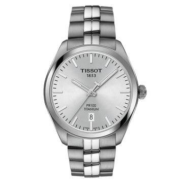 Mens Titanium Tissot PR100 Watch on Bracelet