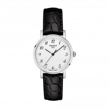 Ladies Steel Tissot Everytime Small Watch on Leather Strap