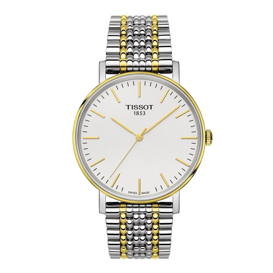 Mens Two Tone Tissot Everytime Watch on Bracelet