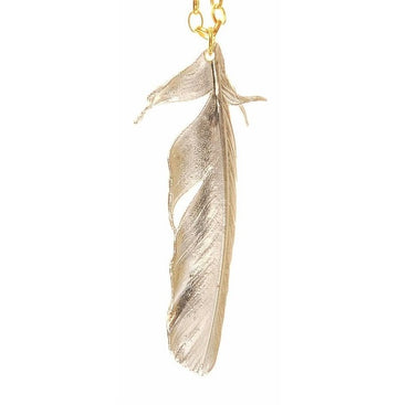 Claire English Magpie Tail Feather Necklace