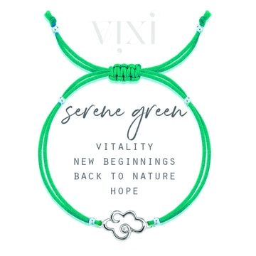 Vixi Daydreaming Serene Green Friendship Bracelet