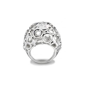 Sterling Silver Hot Diamonds Bubble Ring