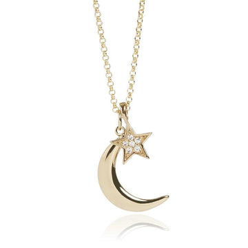Muru Moon and Star Necklace
