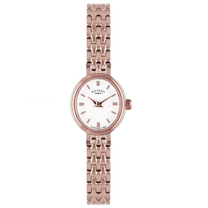 Ladies Rotary Rose Gold Plated Dress Watch