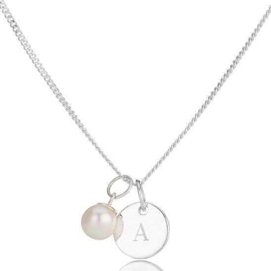 Molly Brown London Pearl Disc Necklace
