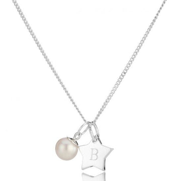 Molly Brown London Pearl Star Disc Necklace