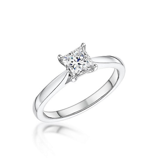 Platinum 1.54ct Solitaire Diamond Ring