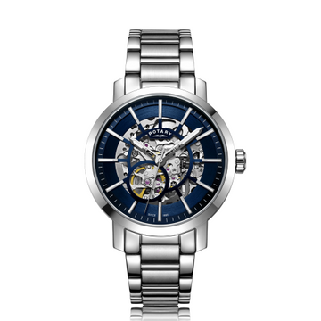 Mens Rotary Greenwich Skeleton Watch