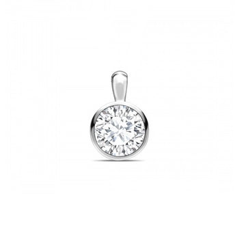 18ct White Gold 0.43ct Rub Set Diamond Necklace