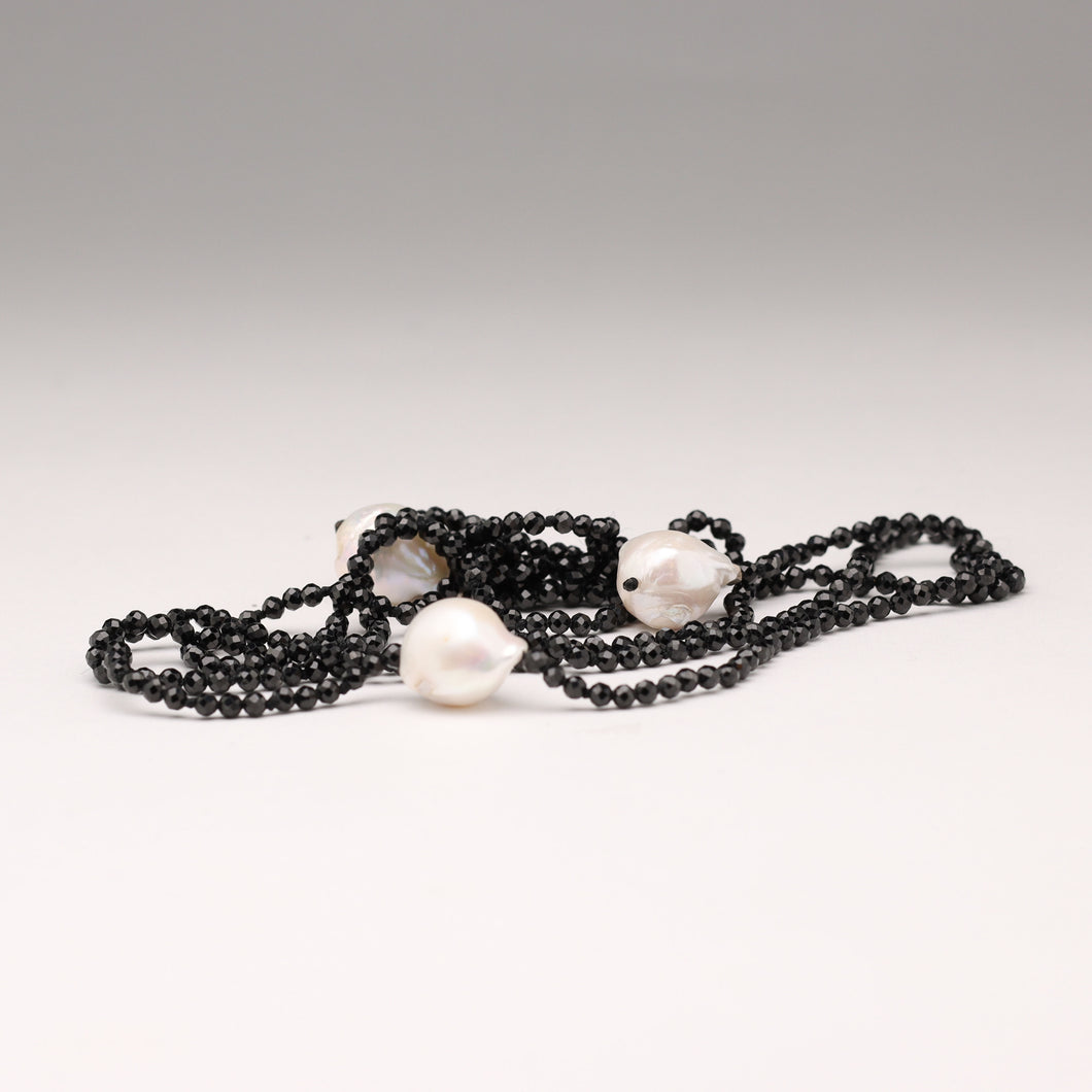Freshwater Pearl Crystal Lariat