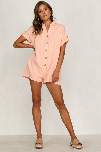 Sherobikini Summer Buttons Loose Button Romper