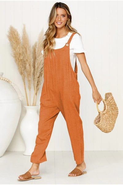 Sherobikini Simple Life Solid Jumpsuits