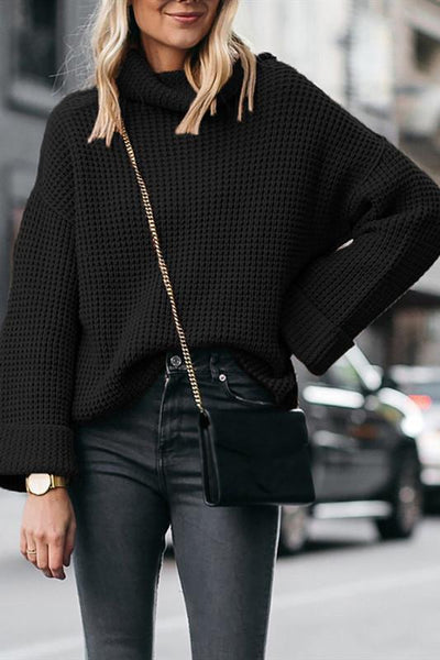 Sherobikini Free Ribbed Cropped Turtleneck Sweater