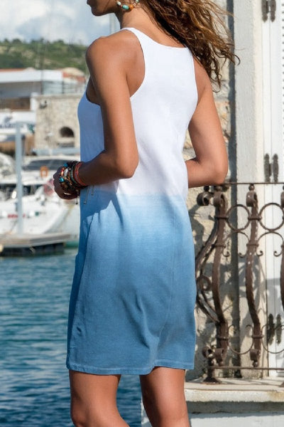 Sherobikini Gradient Sleeveless Mini Tank Dress