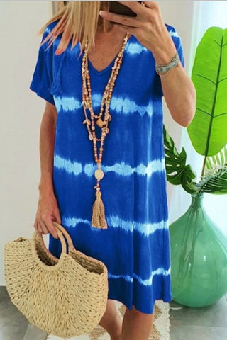 Sherobikini Hope Tie Dye Casual Loose Midi Dress