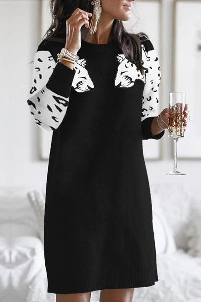 Sherobikini Snow Leopard Knit Dress