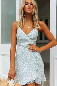 Sherobikini Floral Sweet V-neck Halter Strap Dress