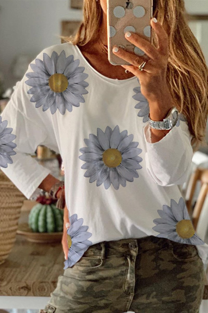 Sherobikini Flower Bottoming Long-sleeved T-shirt