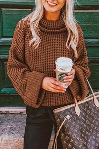 Sherobikini Oversize Casual Turtleneck Loose Sweater
