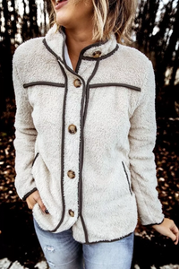 Sherobikini Turndown Collar Buttons Design Coat (3 Colors)