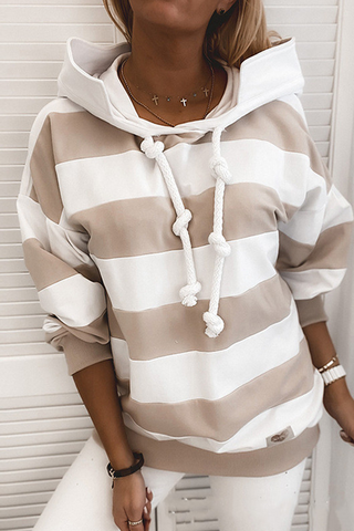 Sherobikini Casual Loose Striped Hoodie