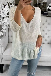 Sherobikini Long Sleeve Casual Loose Sweatshirt