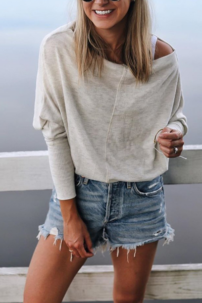 Sherobikini Off Shoulder Long Sleeve Batwing Top