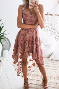 Sherobikini Lace Embroidered Sling Irregular Dress
