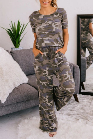 Sherobikini March To The Beat Camo Jumpsuit
