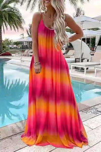 Sherobikini Summer Sleeveless Gradient Maxi Dress