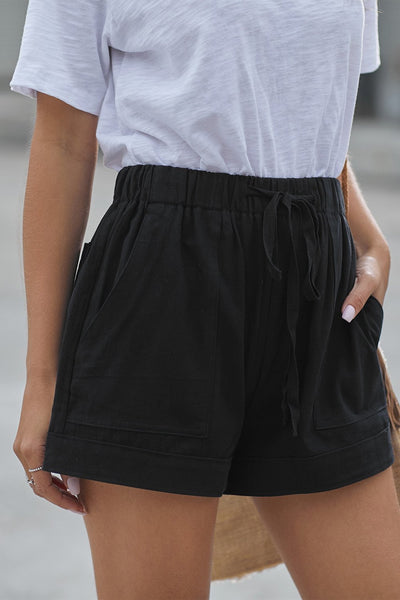 Sherobikini Casual Drawstring Waist Cotton Shorts