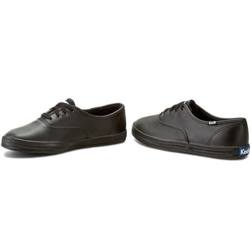 Keds CHAMPION BLACK LETHER crna kožna tenisica (WH45780)
