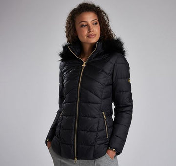 BARBOUR JAKNA BRLQU1090 HAMPTON QUILTED BLACK