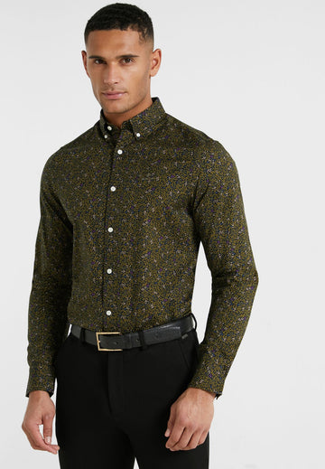 GANT KOŠULJA 3009472 Leaf Print Slim Fit