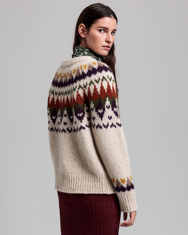 GANT PULOVER 4802080 Winter Fair Isle Crew Neck