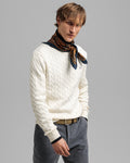 GANT PULOVER 8050501 Cotton Cable Crew Neck Sweater