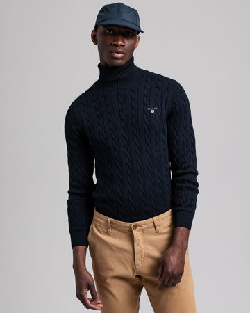 GANT PULOVER 8050507 Cotton Cable Turtleneck