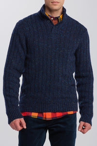 GANT PULOVER 8040065 Neps Buttons Mock Neck