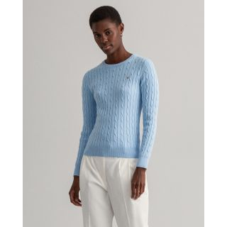 GANT STRETCH COTTON CABLE C-NECK PULOVER 480021