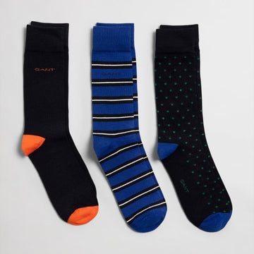 GANT ČARAPE 3/1 9960133 3-Pack Mixed Socks With Gift Box