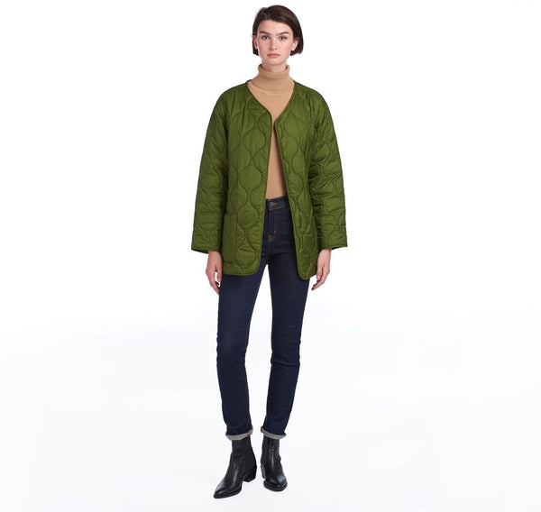 BARBOUR JAKNA BY ALEXACHUNG MARTHA CROPPED QUILTED BRLQU1242