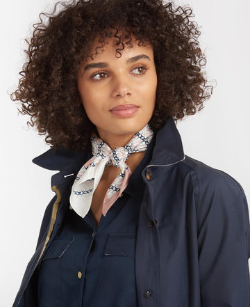 BARBOUR MONOGRAM SILK SQUARE MARAMA LSC0317
