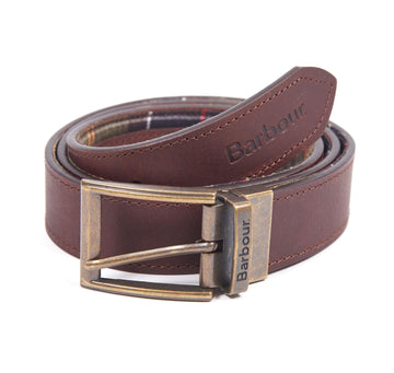BARBOUR REMEN REVERSIBLE TARTAN LEATHER BELT BRMAC0364